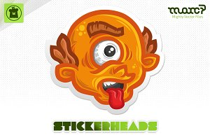 """Astonished Cyclops"" Stickerhead"