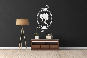 Wall Mockup - Sticker Mockup Vol 16