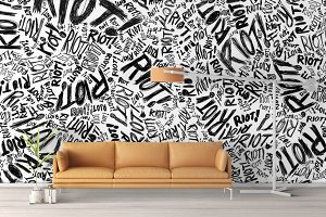 Wall Mockup - Sticker Mockup Vol 18