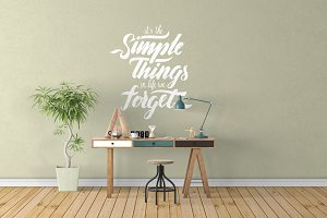 Wall Mockup - Sticker Mockup Vol 20