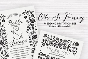 Floral Wedding Templates EPS & JPG