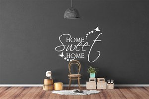 Wall Mockup - Sticker Mockup Vol 21
