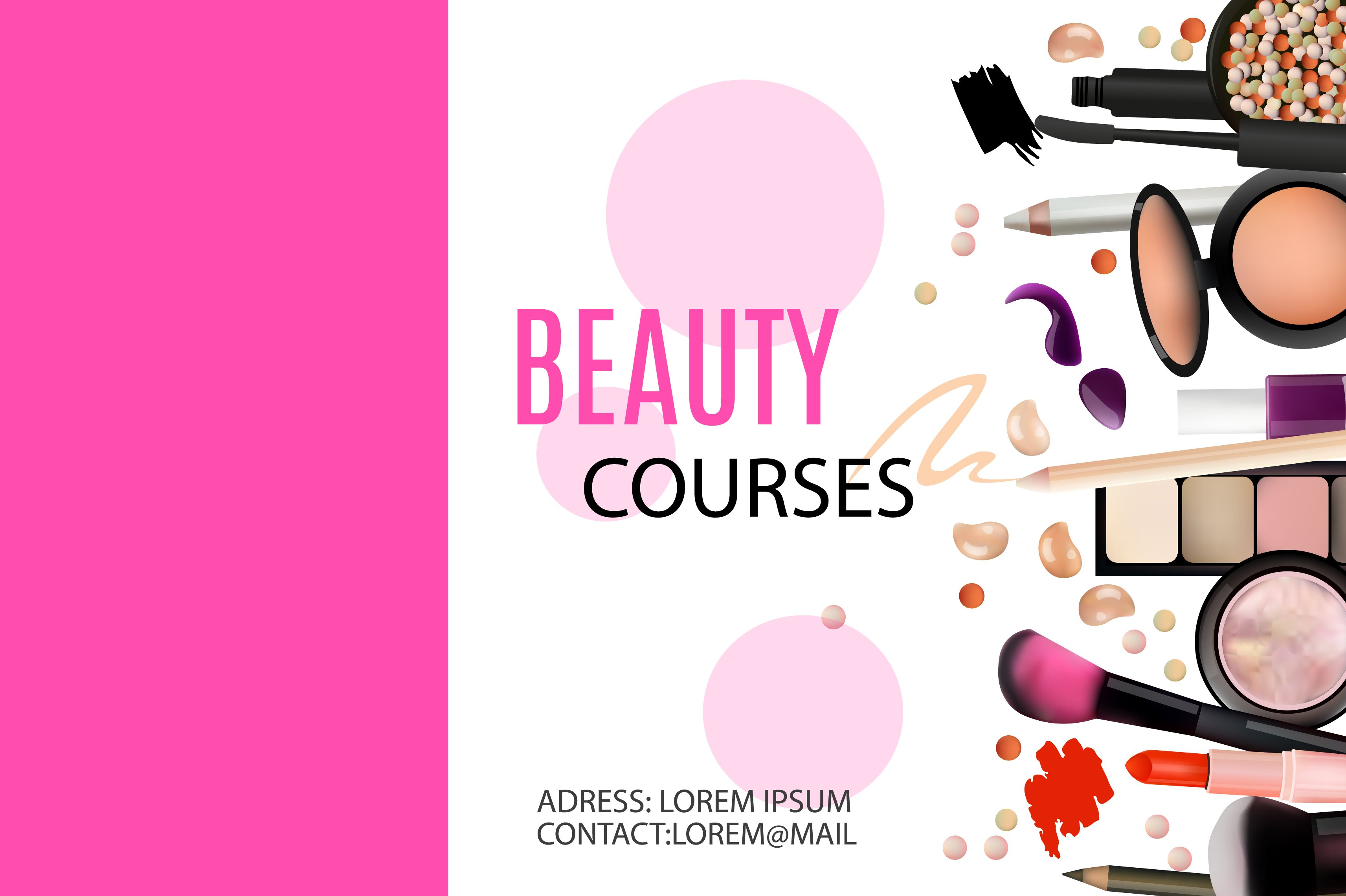 beauty courses banner card templates creative market