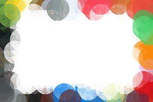 Grunge Circles Frame