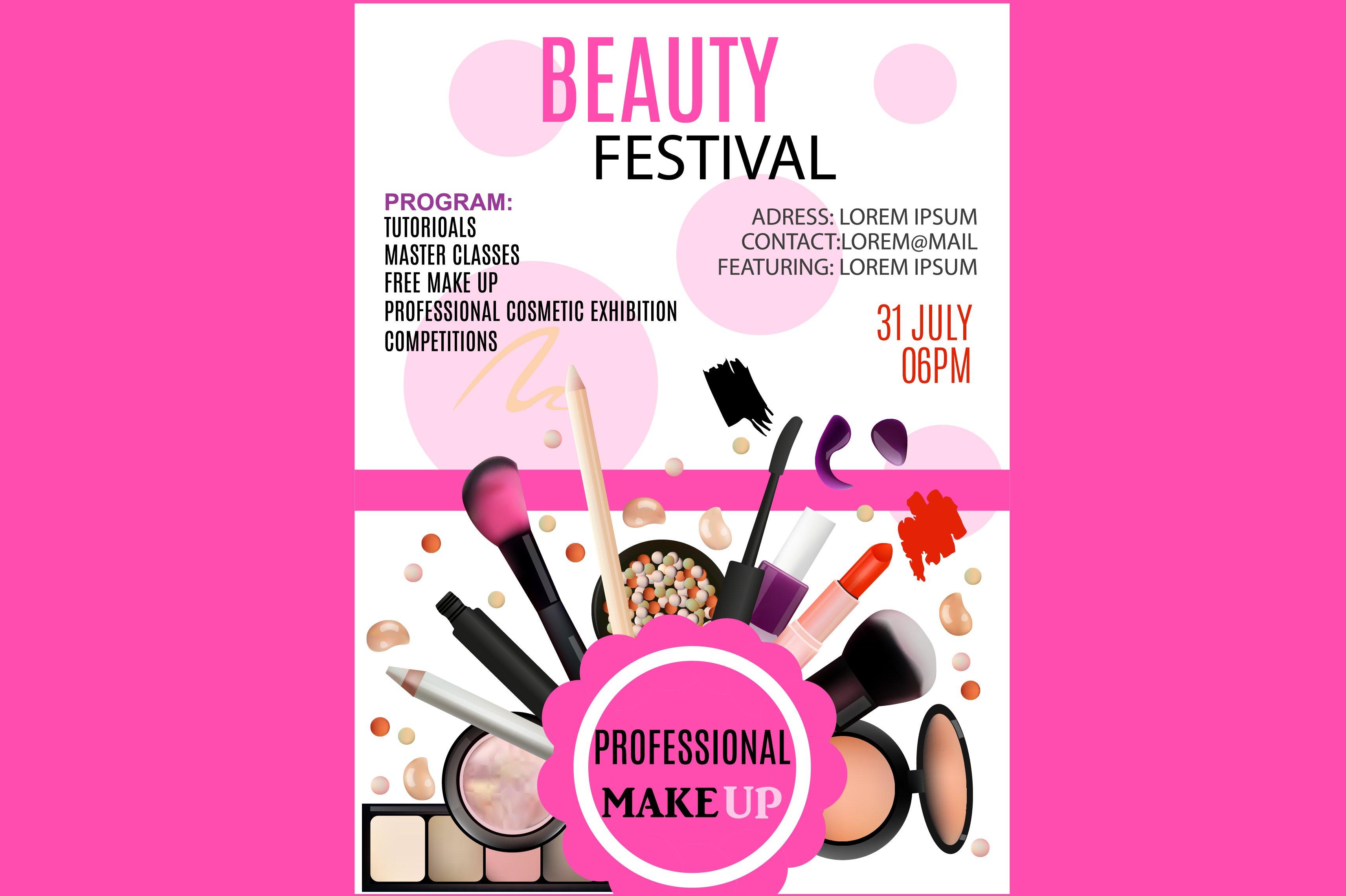 Beauty festival flyer flyer templates creative market saigontimesfo