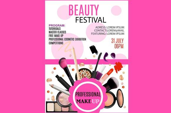 100 Makeup Flyer Templates Free Watercolor Cosmetics Flyer