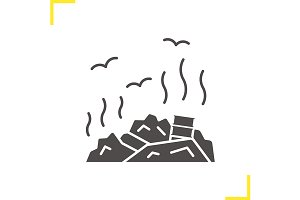 Rubbish dump icon
