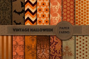 Vintage Halloween digital paper