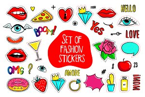 Fashion patch badges