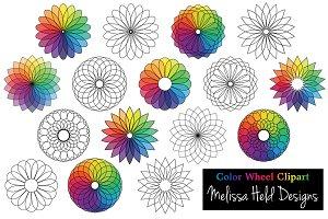 Color Wheel Flower Clipart