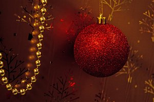 Christmas Red Decoration 1.