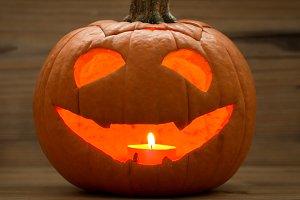 Smiling lantern pumpkin