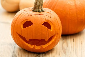 Halloween. Smiling lantern pumpkin