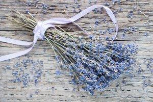 Bouquet of dry lavender