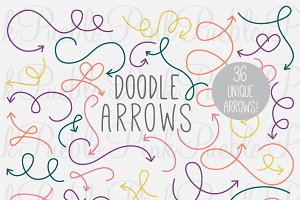 Doodle Arrows Photoshop Brushes