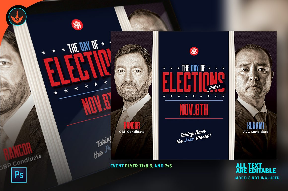 election flyer templates photos graphics fonts themes templates