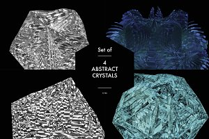 4 Abstract Crystal Renderings