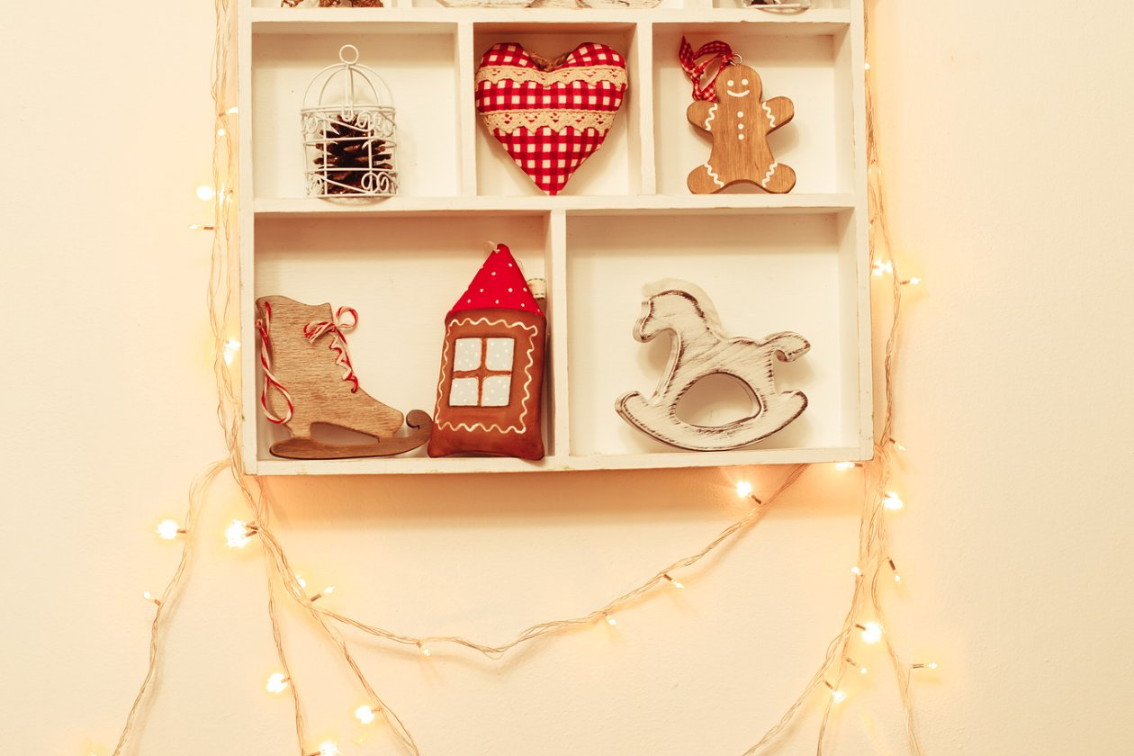 Christmas decorations on the wall - Holiday Photos | Creative Market Pro