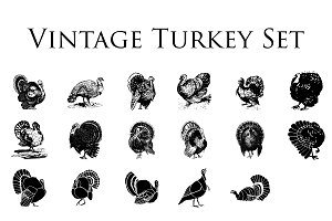Vintage Turkey Clipart