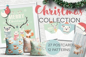 Christmas- 27 postcards, 12 patterns