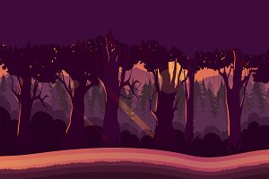 Mystery Forest Background