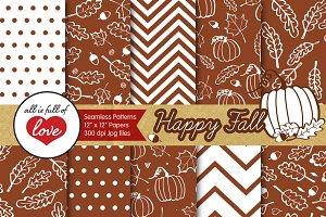 Brown Autumn Background Pattern