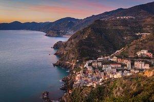 The Cinque Terre costline