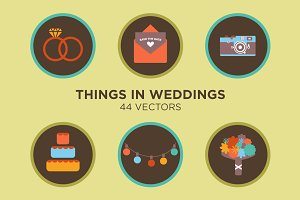 Things in Weddings - 44 Vectors