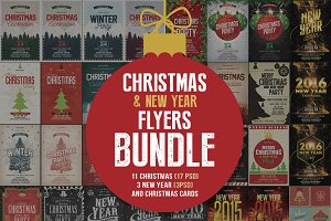Christmas & New Year Flyers Bundle