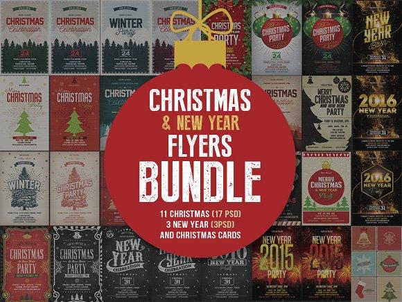 Christmas & New Year Flyers Bundle - Flyers
