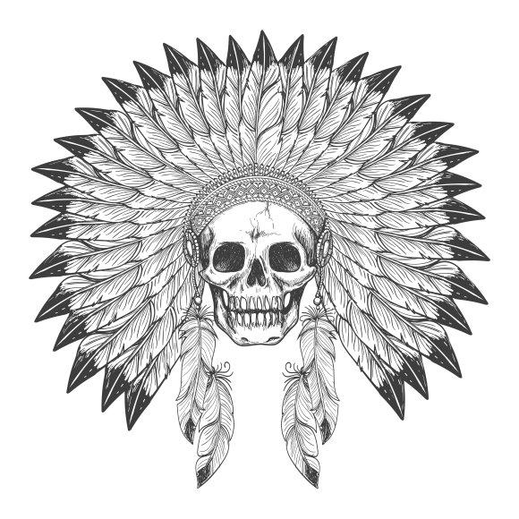 Native American Indian Skull Graphics Creative Market