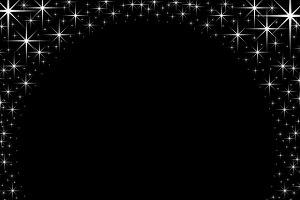 Shiny star border frame