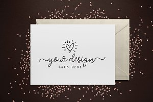Glitter Greeting Card Mockup