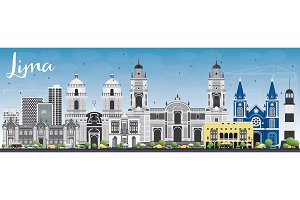 Lima Skyline with Gray Buildings
