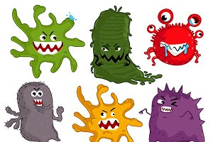 Cartoon viruses characters