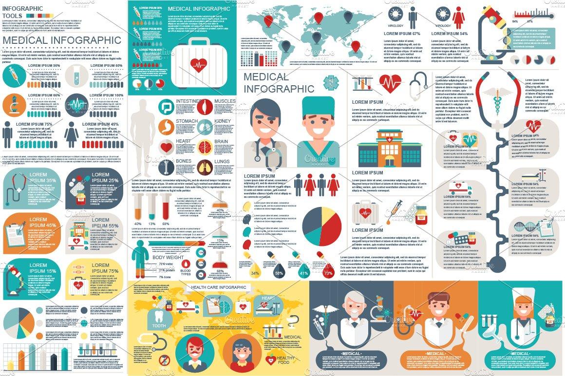 Medical infographic elements presentation templates creative market gumiabroncs Images