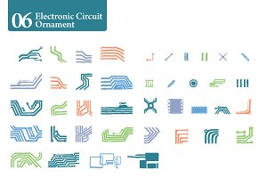 Electronic Circuit Ornament [06]