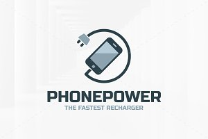 Phone Power Logo Template