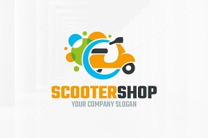 Scooter Shop Logo Template