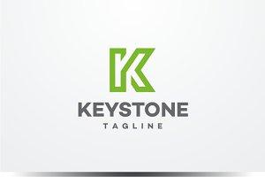 Keystone - Letter K Logo