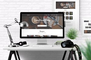 GoodFood - Blog PSD template