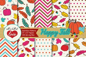 Happy Fall Background Papers