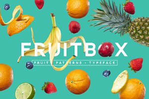 FruitBox - Font. Patterns. Fruit