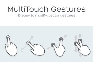 40 Vector MultiTouch Gestures