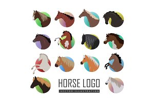 Set of Horse Logo