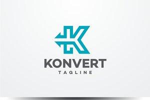 Konvert - Letter K Logo
