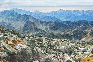 Autumn landscape of Tatras mountains