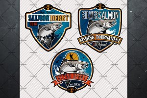 Salmon Fishing Labels