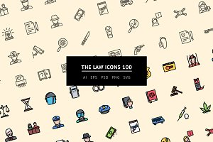 The Law Icons 100