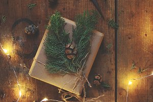 Rustic gift packaging